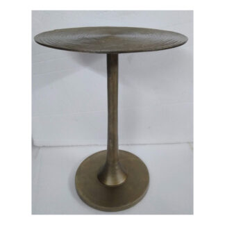 Antiqued Brass End Table
