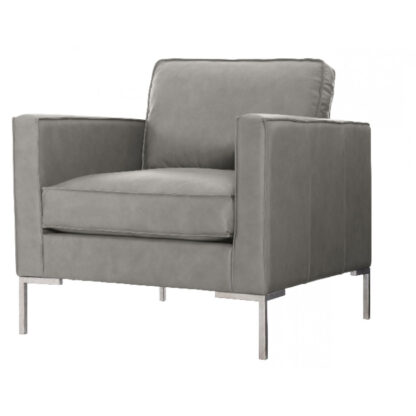 Concord Grey Leather Chair