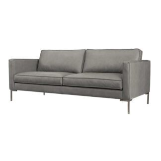 Concord Grey Leather Sofa