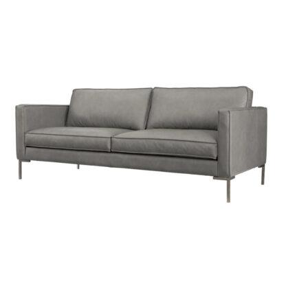 Concord Grey Leather Sofa