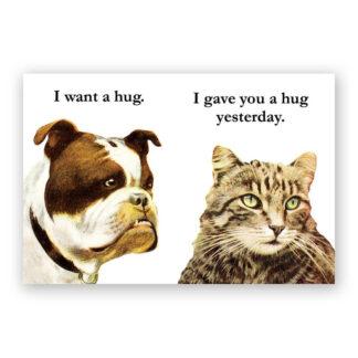 Bulldog Hug Magnet