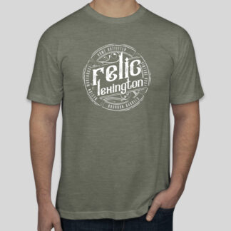Distressed Relic Logo Shirt Olive