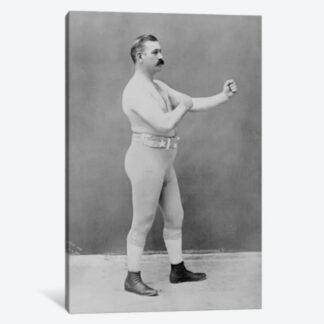 Boxing Champion John Sullivan Framed Canvas Giclee