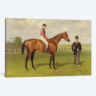 Persimmon, Winner of the 1896 Derby- Framed Canvas Giclee
