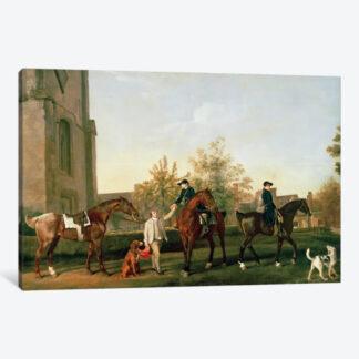 Lord Torrington's Hunt Servants- Framed Canvas Giclee