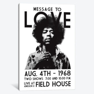 Message to Love- Framed Canvas Giclee