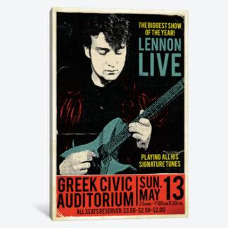 John Lennon at the Greek- Framed Canvas Giclee