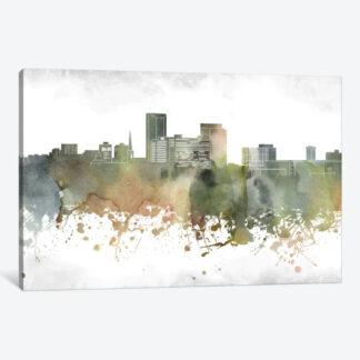 Lexington Skyline Framed Canvas Giclee