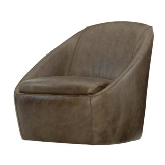 Webster Leather Swivel Chair
