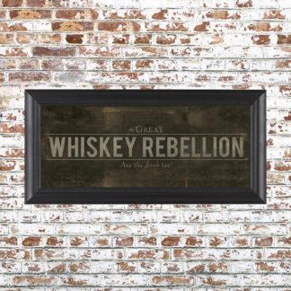 Whiskey Rebellion Framed Print Small