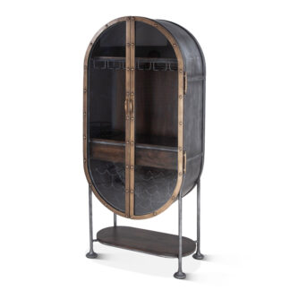 Bowery Tall Oval Bar Cabinet