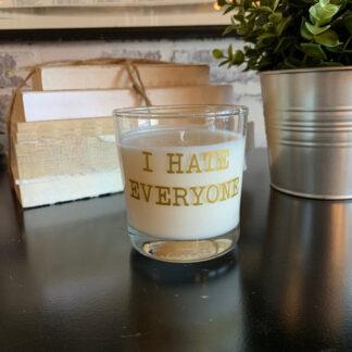 I Hate Everyone Reusable Rocks Glass Candle