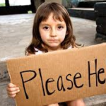 child with sign