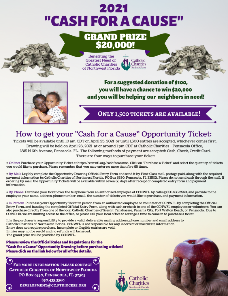 Cash for a Cause Flyer