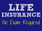 Life Insurance - No Exam