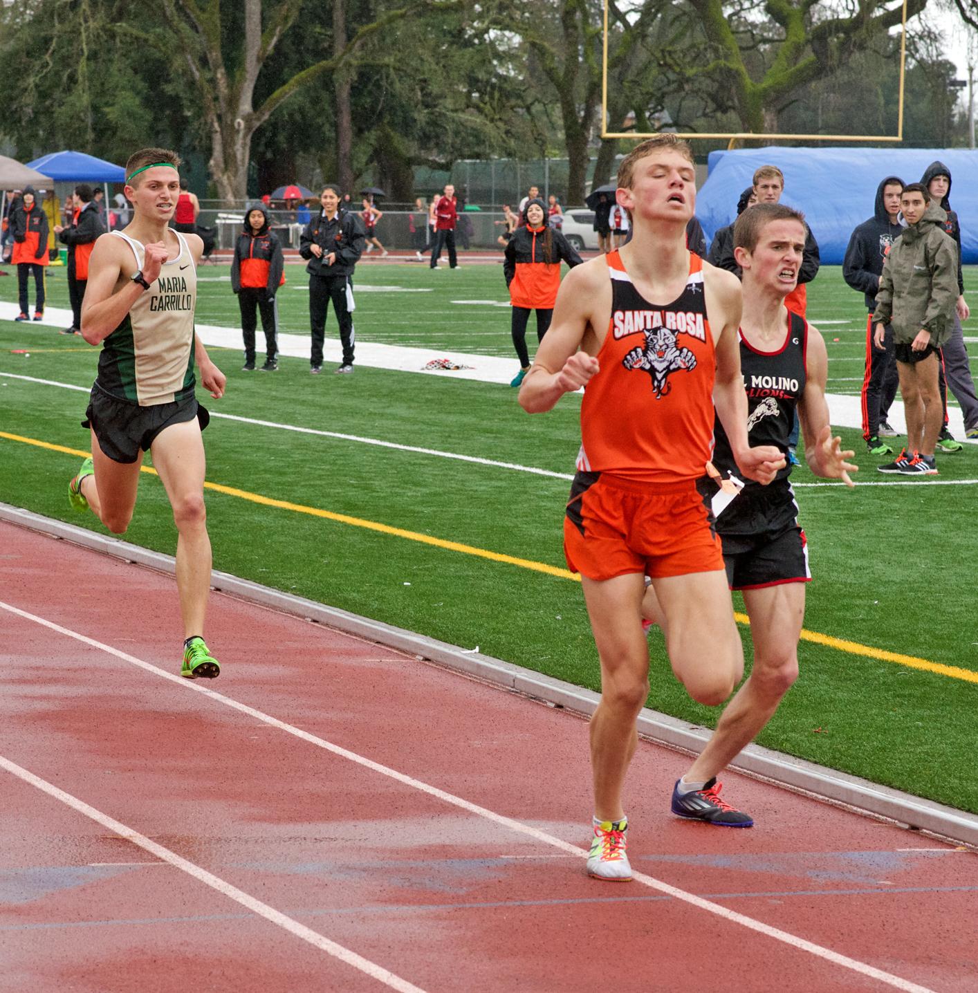 Winner Daniel Pride Boys 1600m Final