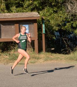 Rylee Bowen leading at 1.2 mile mark.