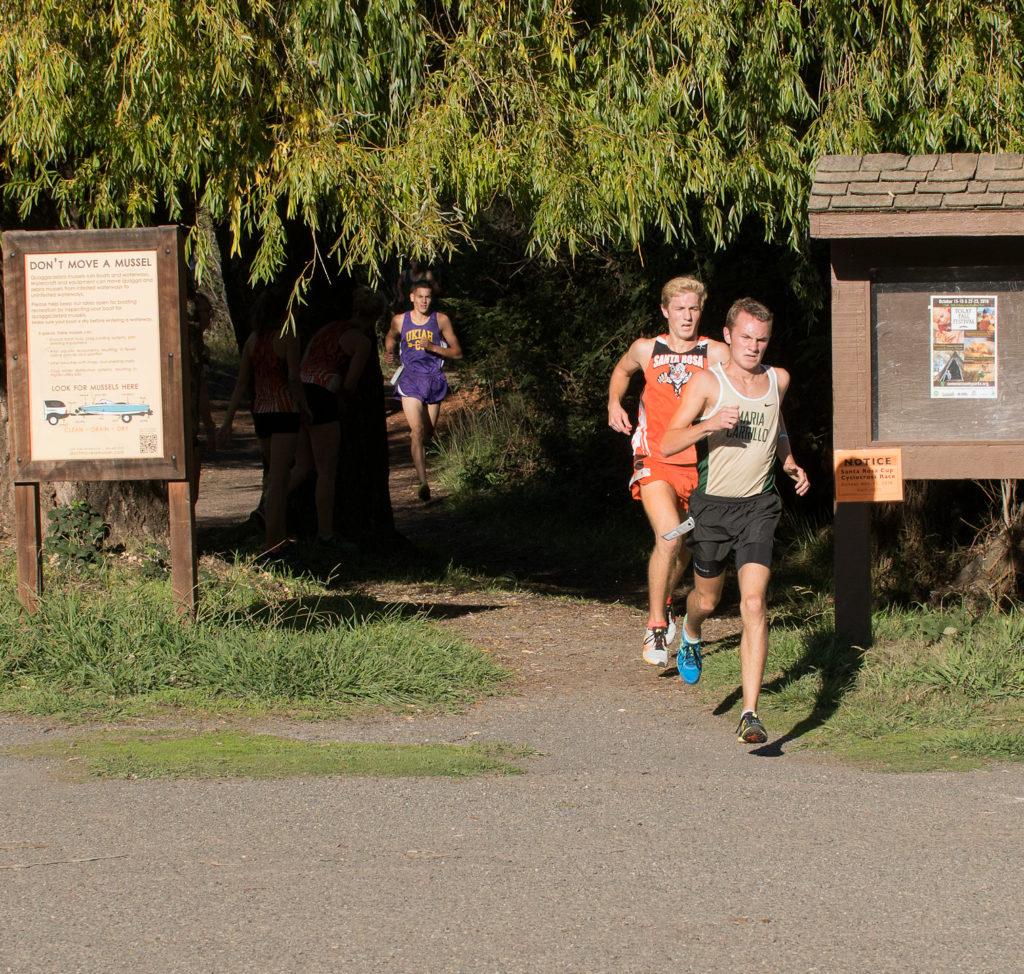Leaders at 1.2 mile-Lawson, Mazzanti and Swoboda