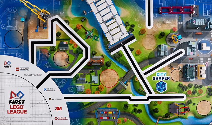 FLL City Shaper Challenge Mat