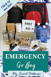 emergency go bag pin, how to build a go bag, what to put in an emergency go bag, go bag