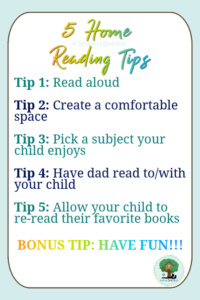 5 reading tips, tips for reading at home, home reading tips