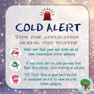 apply color street, color street application, cold weather application tips