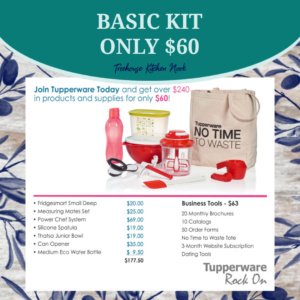 tupperware basic join kit, join tupperware, sign up for tupperware, become a tupperware lady, tupperware alaska, join, income