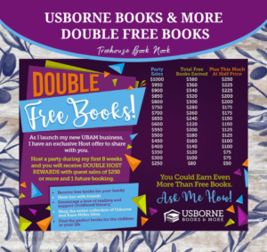 double free books from usborne books & more, new consultant double free books