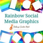 rainbow social media graphics, rainbow graphics, ready to post rainbow graphics, social media graphics, social media, done for you rainbow graphics, done for you rainbow social media graphics