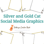 silver and gold cat social media graphics, silver and gold cat graphics, ready to post silver and gold cat graphics, social media graphics, social media, done for you silver and gold cat graphics, done for you silver and gold cat social media graphics