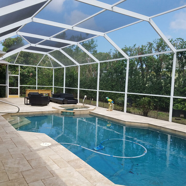 Patio Pool Screen Enclosure Repair Restoration Pinellas County