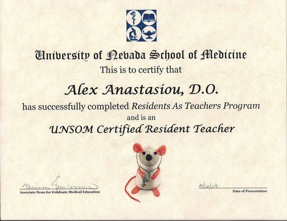 UNSOM Certified Resident Teacher