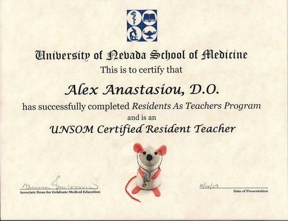 UNSOM Certified Resident Teacher