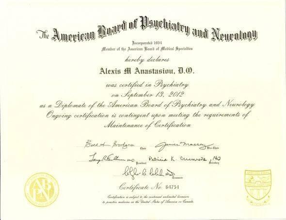 American Board of Psychiatry and Neurology