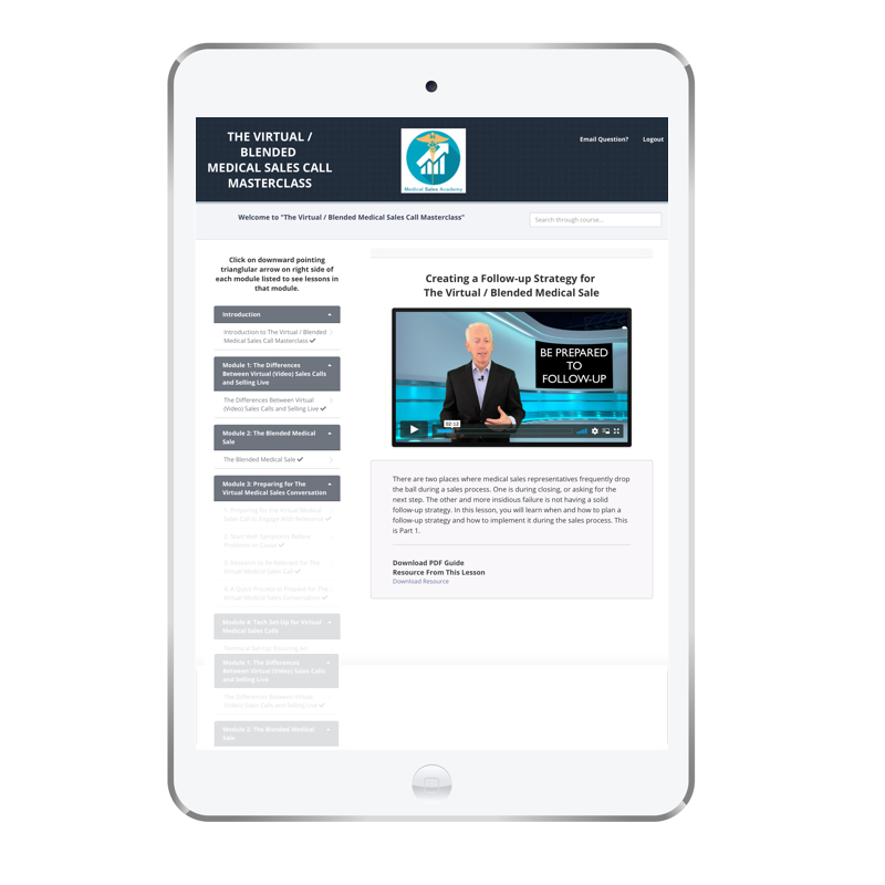 Virtual Medical Sales Call Masterclass