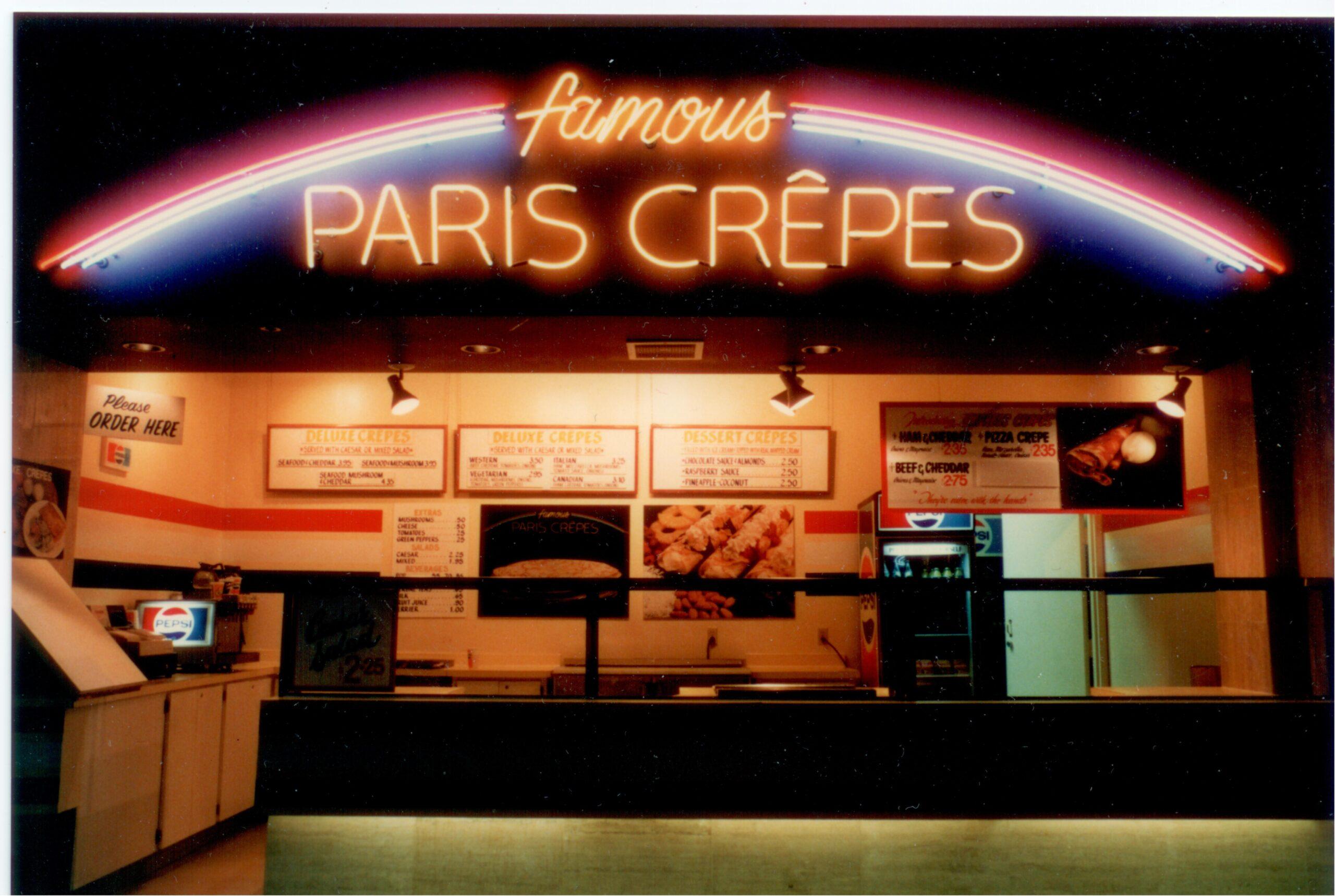 Famous Paris Crepes Fast-Food Restaurant