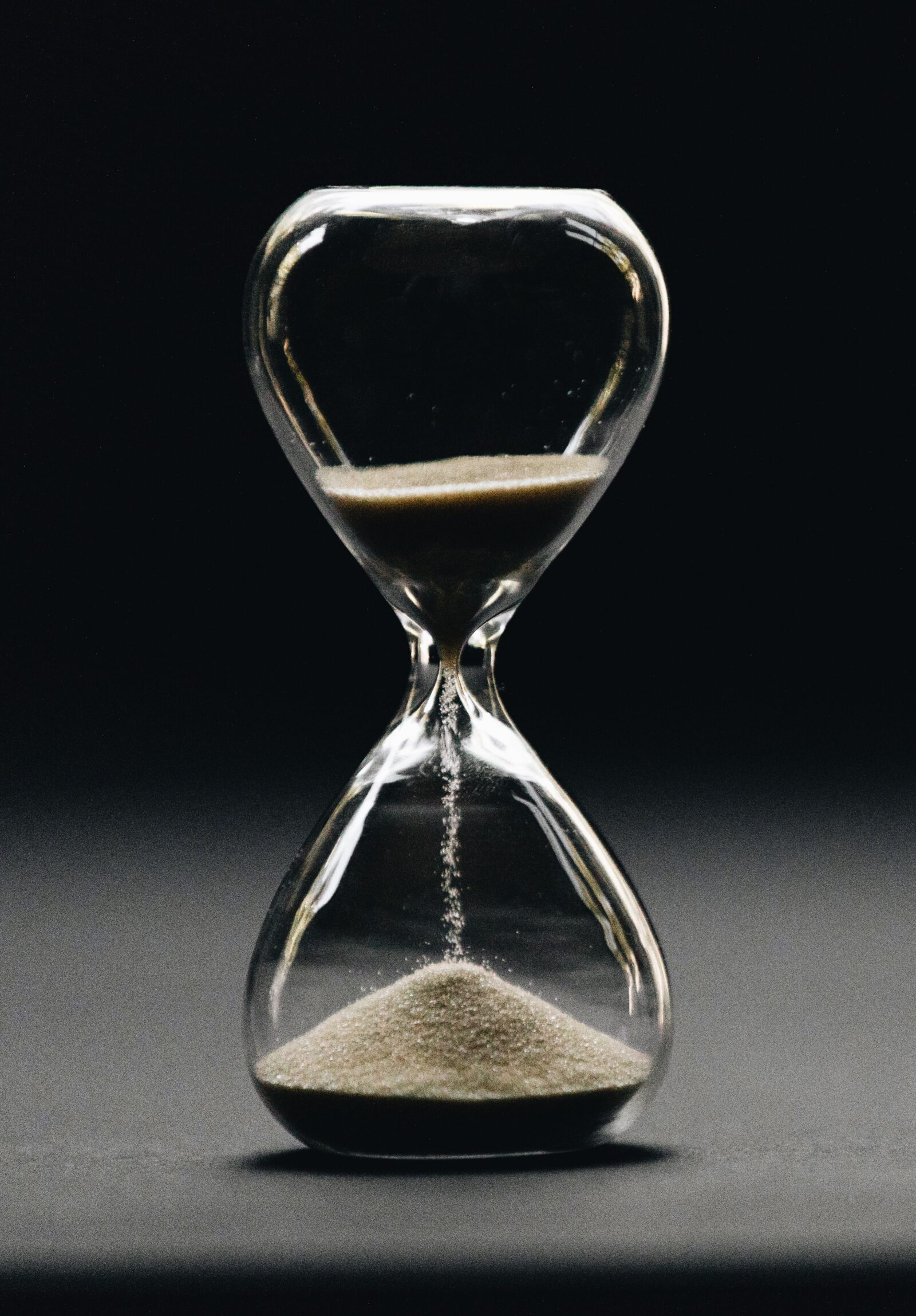 Time is ticking - hourglass