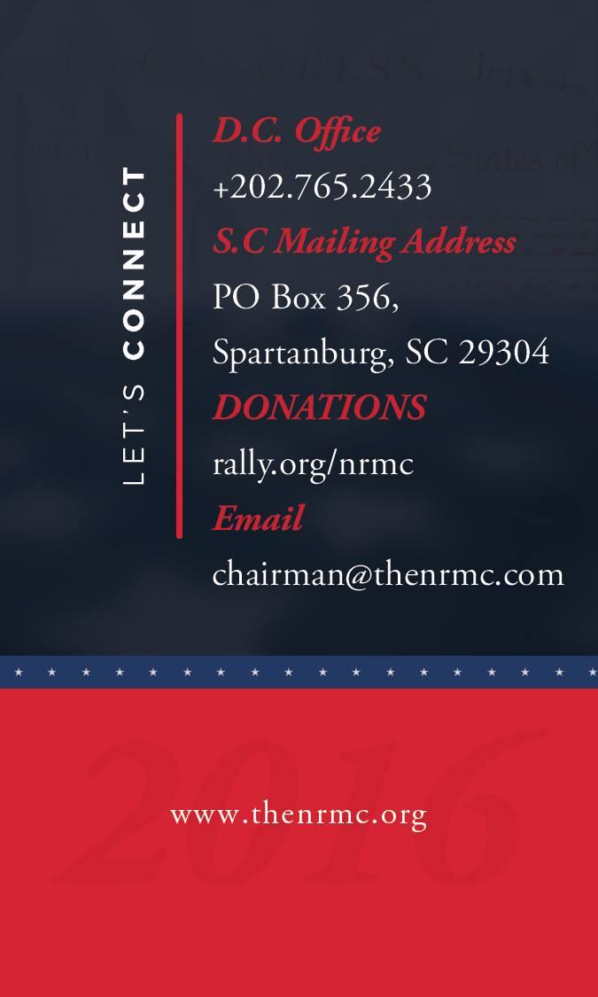 Custom Business Card Design- NRMC Back