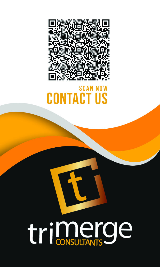 Custom Business Cards-Trimerge Consultants Back View