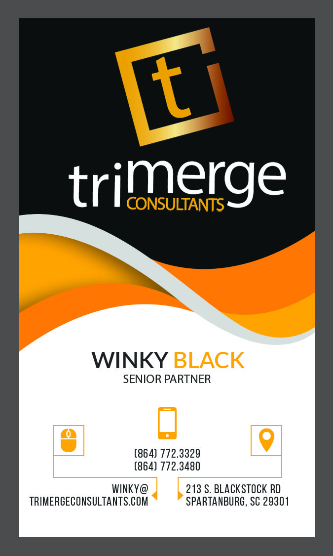 Custom Business Card- Tri-Merge Consultants- Front