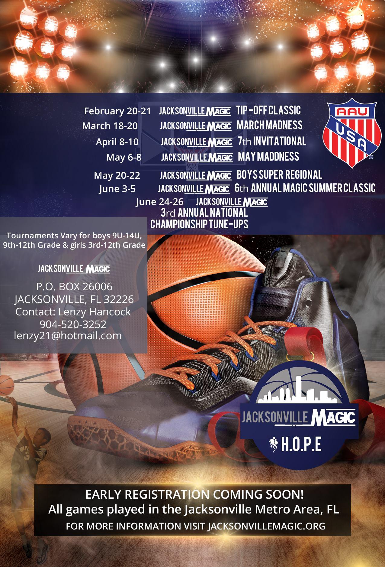 Custom Event Flyer-AAU Sports Jacksonville Magic