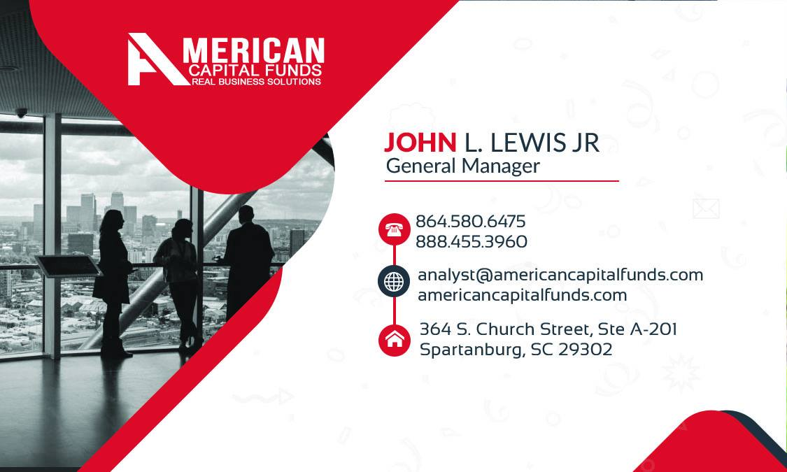 Custom Business Card-American Capital Funds