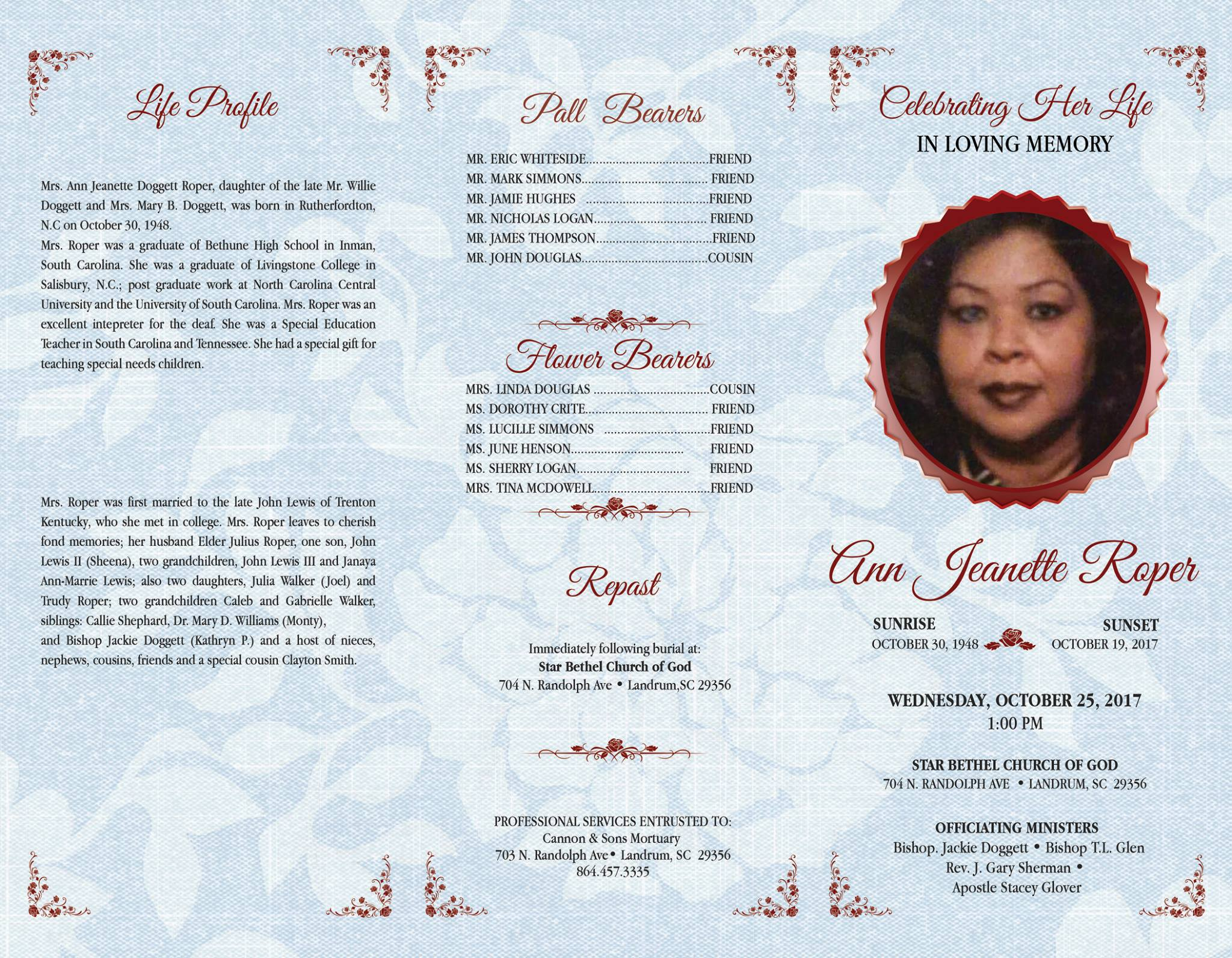 Custom Print Design-Funeral Programs