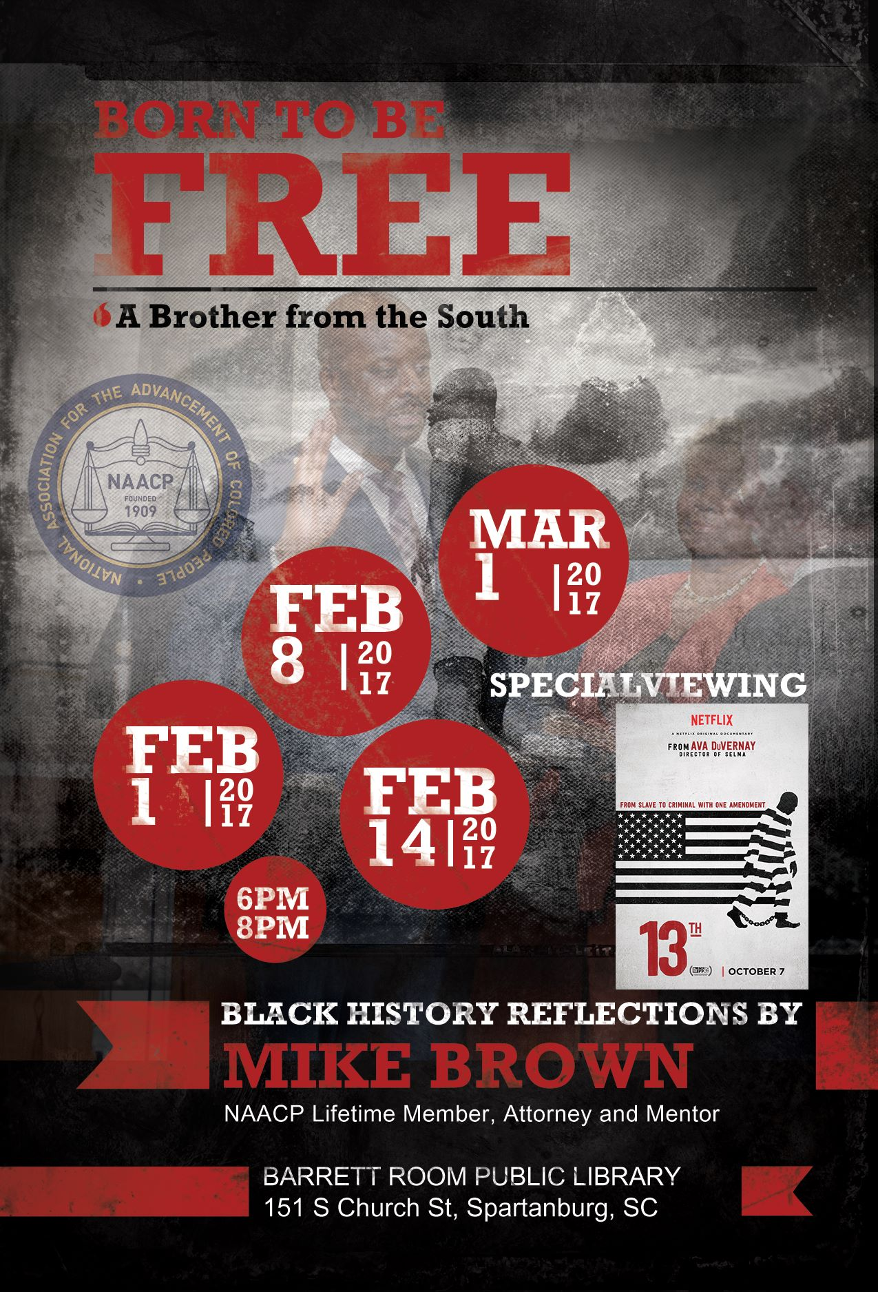 Custom Event Flyer-NAACP Spartanburg