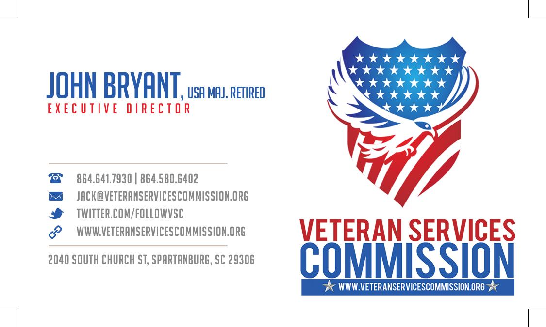 Custom Business Card Design-Veterans Services Commission