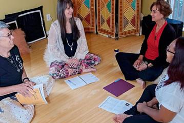 yoga teachers in training