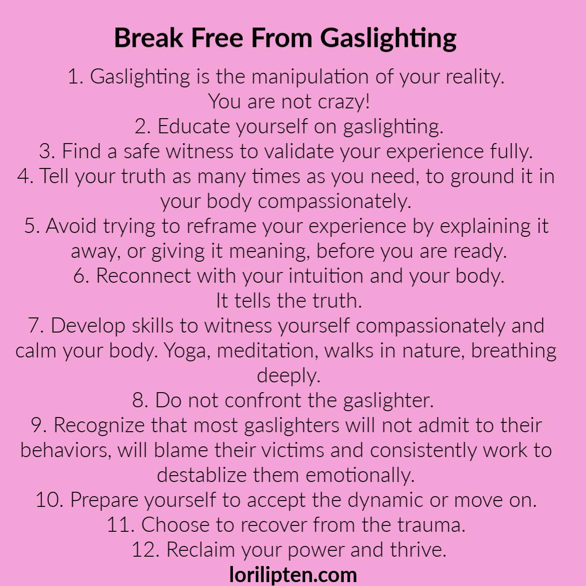 Breaking Free from Gaslighting