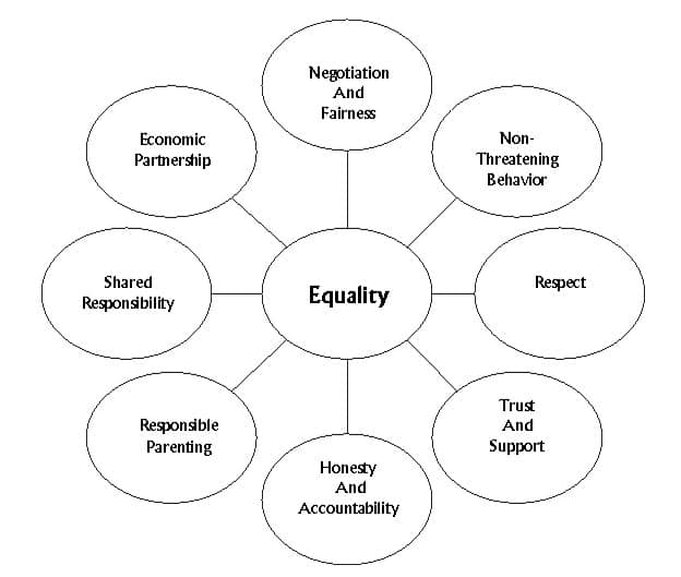 This image display the graph used at The PAC Program Outpatient Addiction Treatment DV/BIP educational life skills training non-violent equity model