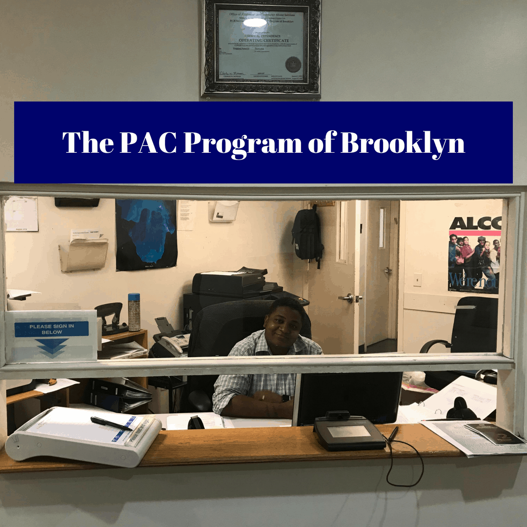 Image of the reception desk at The PAC Program of Brooklyn  Outpatient Drug Treatment