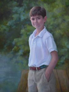 Alex – Child Portrait in Oil